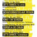 Kulturprogramm Forum Rifferswil 2012